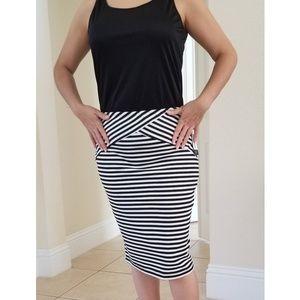 BCX Skirts - NEW BCX BLACK AND WHITE STRIPED PENCIL SKIRT